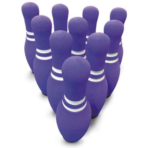 MAC-T PE08675 Foam Bowling Pin Set, Purple with White (Pa...