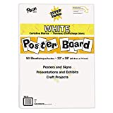 "Pacon Super Value Poster Board, 22""X28"", White, 50"