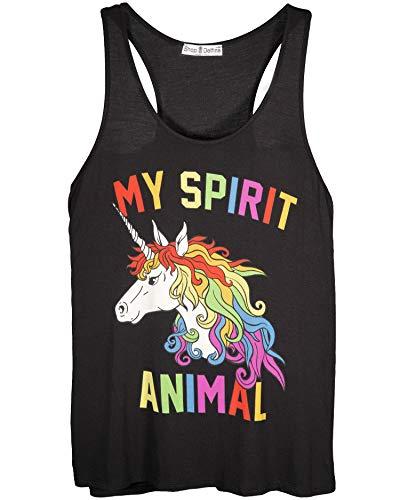 Shop Delfina My Spirit Animal Unicorn Magical Rainbow Funny Womens Tank Top