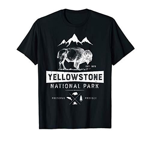 Yellowstone National Park T shirt US Bison Buffalo Vintage