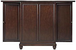 Amazon Com Crosley Furniture Cambridge Expandable Bar