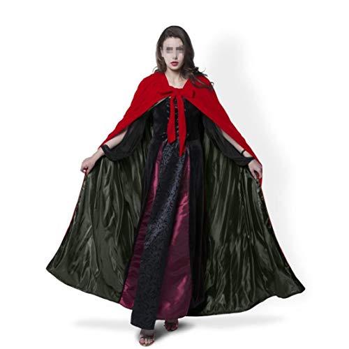 Girl Fantaisie Manteau l Dark Capuche De Velvet Femmes Taille Red Kids Lady Chale Cape No Couleur Pleine Halloween Cosplay Costumes Longueur Cape M Brown Ap8p65qw