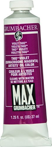 Grumbacher Max Water Miscible Oil Paint, 37ml/1.25 oz, Thio Violet by Grumbacher