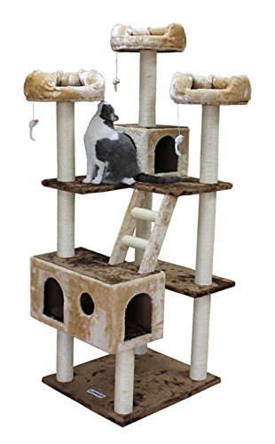 Amazoncom Tall Cat Tree Scratching Post 73 Inch Kitty Tower Two