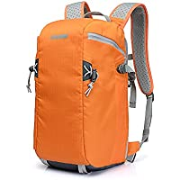 BESTEK CADEN Waterproof DSLR Camera Bag Nylon Camera Backpack Multi Pocket Gadget Camera Bag Travel Bags, Orange