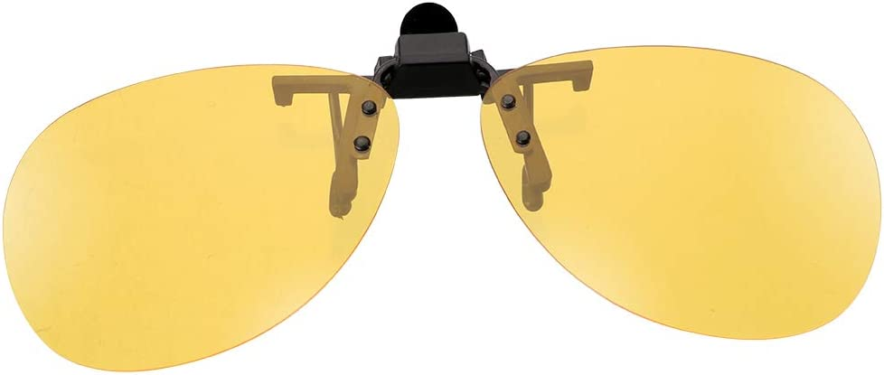 Anti-UVA aufsteckbare Brille Braun NOPNOG Auto polarisierte Sonnenbrille Fahrerbrille