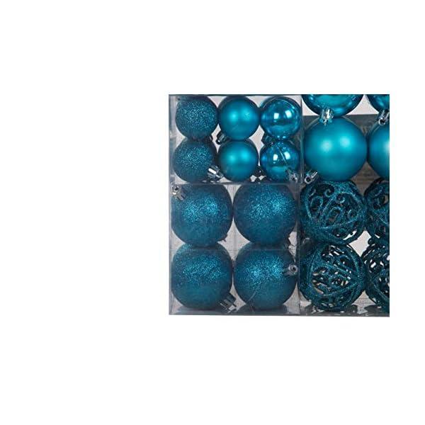 Lifestyle & More 100 Pezzi Palle di Natale Turchese Decorazioni per Alberi di Natale (Turchese) 6 spesavip
