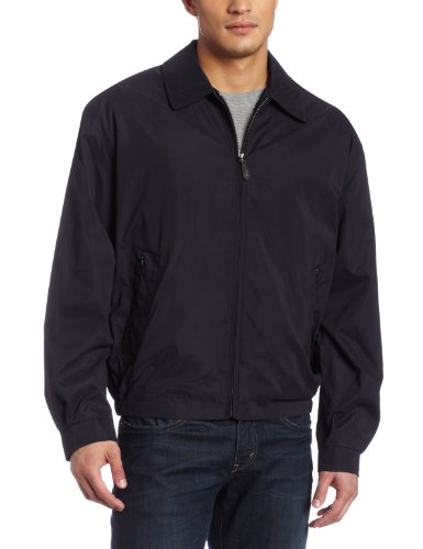 (London Fog Men's Auburn Zip-Front Golf Jacket (Regular & Big-Tall Sizes), Navy, X-Large)