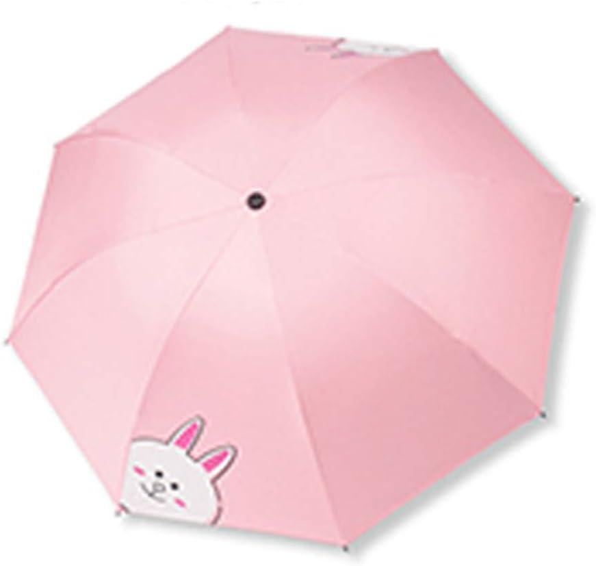 Comeyang Paraguas Compacto y a Prueba de Viento Que Abre y Cierra automáticamente el Paraguas Plegable,Dibujos Animados 8 Hueso Manual protección Solar Paraguas color9 98cm: Amazon.es: Hogar