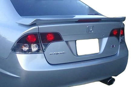 Accent Spoilers- Spoiler for a Honda Civic 4-Door SI Factory Style Spoiler-Polished Metal Metallic Paint Code: NH737M