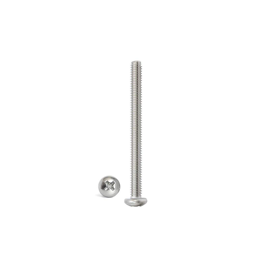 304 Stainless Steel Button Head Bolts Phillips Drive Adiyer 30 Pack #8-32 UNC x 3//4 Inch Machine Screws for Cabinet Drawer Knob Pull Handle