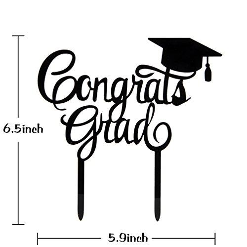 amazon com innoru 2019 congrats grad cake topper black class of