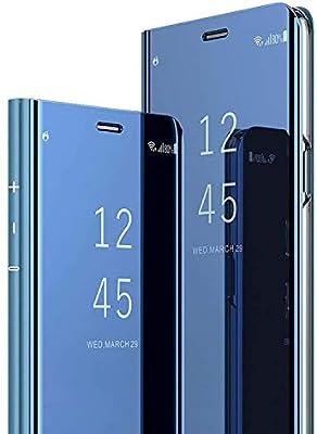 AOBOK para Samsung Galaxy A40 Funda, Espejo Mirror Flip Carcasa ...