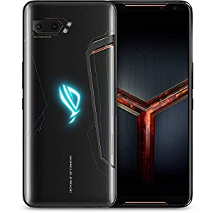 ASUS ROG Phone 2 (ZS660KL) Smartphone 512GB ROM 12GB RAM Snapdragon 855 Plus 6000 mAh NFC Android 9.0 – GSM Only International Version, No Warranty (Black)