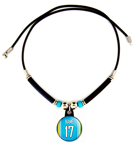 San Diego Football Jersey Necklace Personalized with Your Name and Number