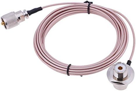 Asiright - Cable de alimentación coaxial de 5 m para antena de ...