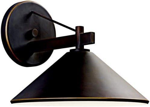 Kichler 49061OZ, Ripley Aluminum Outdoor Wall Sconce Lighting, 40 Total Watts, Olde Bronze