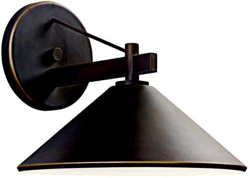 - Kichler 49061OZ Ripley Indoor/Outdoor Wall 1-Light, Olde Bronze