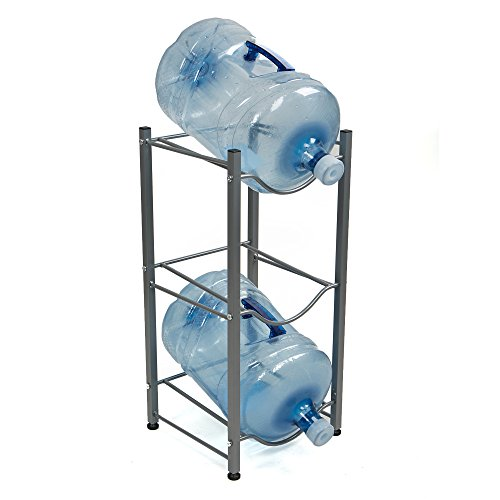 Mind Reader 3 Tier Stainless Steel Heavy Duty Water Cooler Jug Rack, (Three Jug)