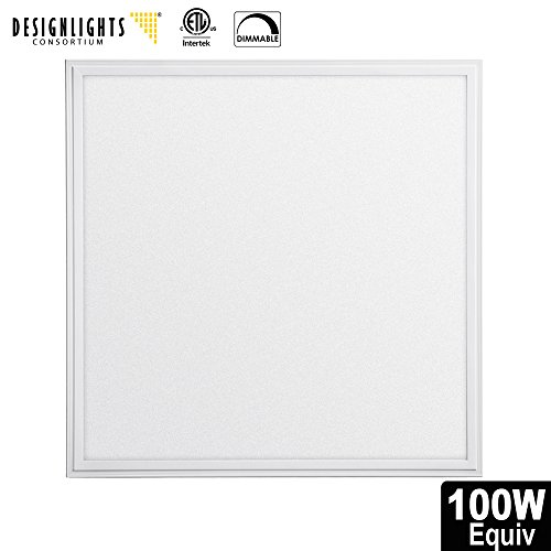 LED Troffer Panel 2x2 FT, UL-listed,DLC-QUALIFIED 40W(150WEquivalent),5000K,4800 Lumens,Dimmable 0-10v,Uniform panel ceiling light,Super Bright Ultra Thin Glare-Free
