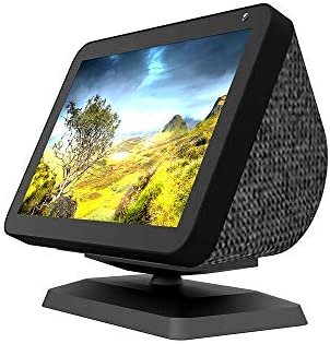 NUOSWEK Upgrade Swivel Stand for Smart Speaker Show 8 with Stronge Magnet, Tilt Range Adjustable, Anti-Slip (Black)