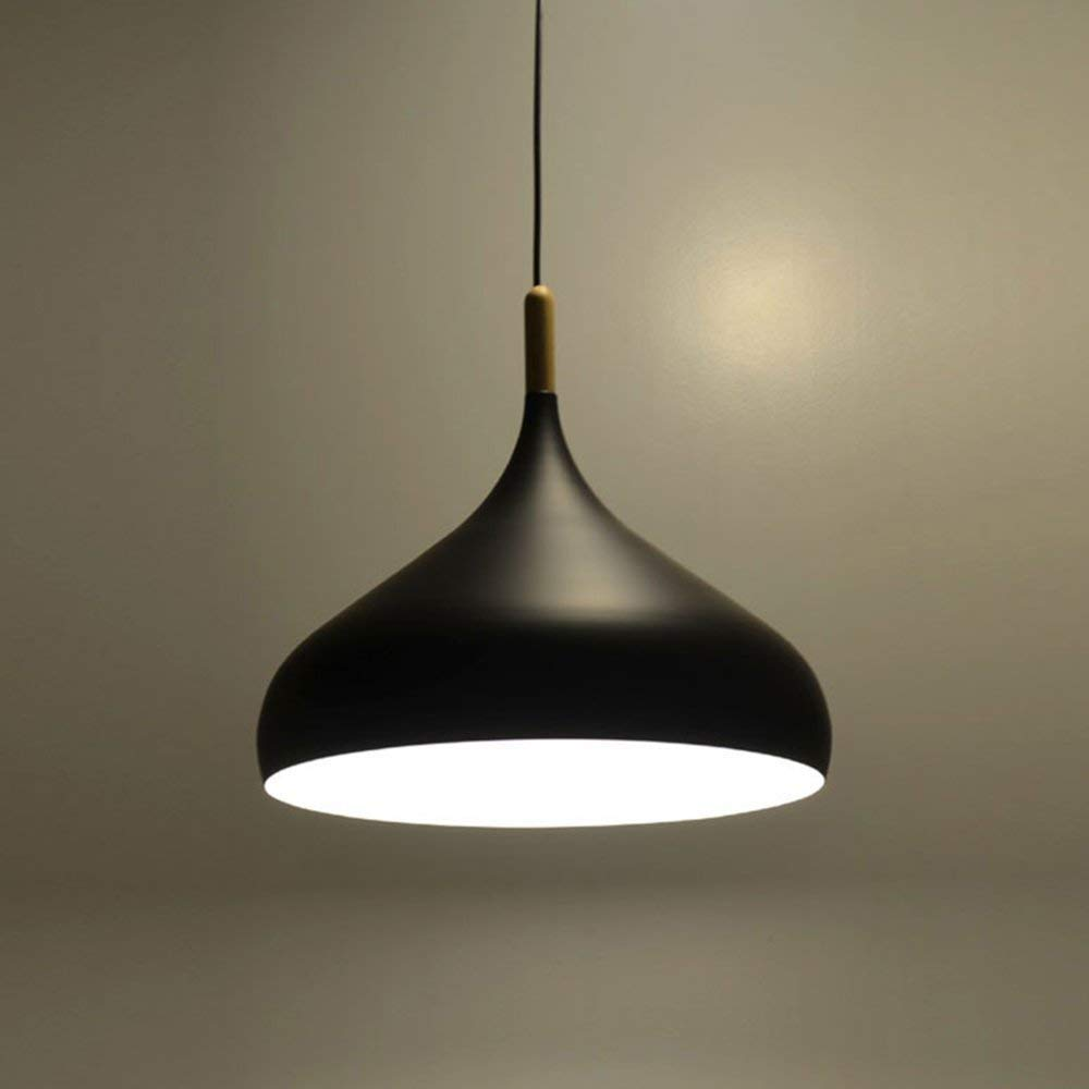 Comtemporary Pendant Light 60W Black Lampshade Industrial Metal Pendant Light Shade Ceiling Hanging Light Fixtures Light Guard 1 Light for Dining Room,Kitchen