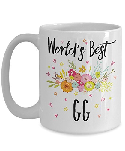 GG Mug - World's Best GG - Best GG Ever - A Thank You And / Or Appreciation Gift - Coffee Cup In 11oz Or 15oz Sizes