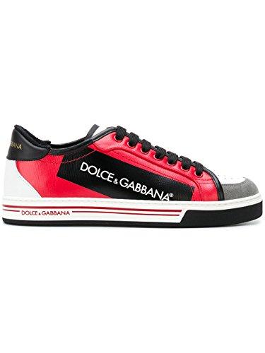 DOLCE E GABBANA Herren CS1589AN405HRI67 Rot Leder Sneakers