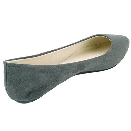 Suede Lilly Pointed Gray Toe Flats Alpine Womens Micro Ballet Swiss 7tnBqw4