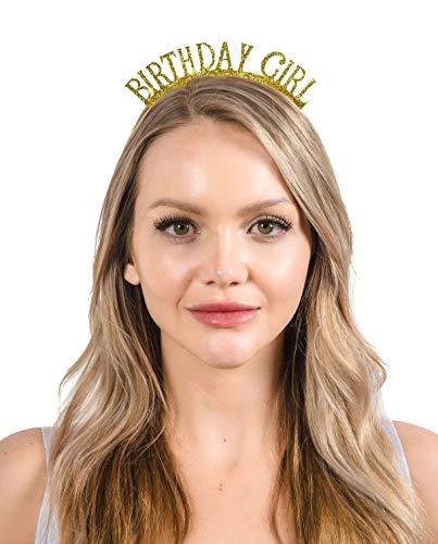 - Dulcet Downtown Birthday Girl Gold Glitter Headband