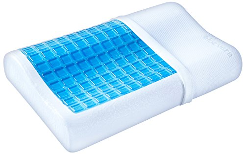PharMeDoc Contour Cooling Gel Memory Foam Pillow - Premiuim Bedding with Washable Case - Soft & Breathable Comfort Cushion for Optimum Neck Support & Pain Relief - Stomach Back & Side Sleeper (Sleep Number Insert compare prices)