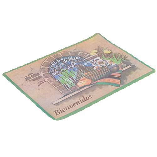 10'' x 14'' Mexican Themed Paper Placemat with Scalloped Edge - 1000/Case by TableTop King