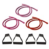 Beachbody P90X Comfort Grip Resistance Bands Workout Kit - Set of 3: Light, Medium, Heavy