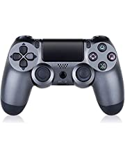 $32 » Controller for PS4 Wireless Playstation 4 Controller with Dual Vibration/Speaker/Gyro/Audio Jack Remote Controller Gamepad for PS4/Slim/Pro/(Black-Gray)