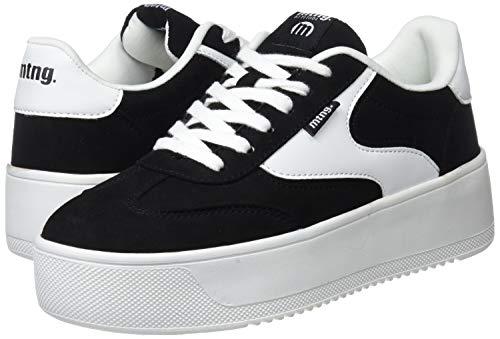 C39788 Para Negro Zapatillas Mtng Pu action softy Blanco Negro 69180 Mujer vqw1Pn71gF