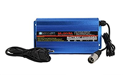 24 Volt 8 Amp Charger Replacement For Hoveround Mobility Scooters - Mighty Max Battery brand product