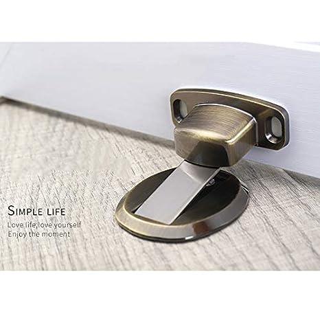Lumon fermaporta Magnetico Invisibile in Acciaio Inox per casa e Ufficio Bronze