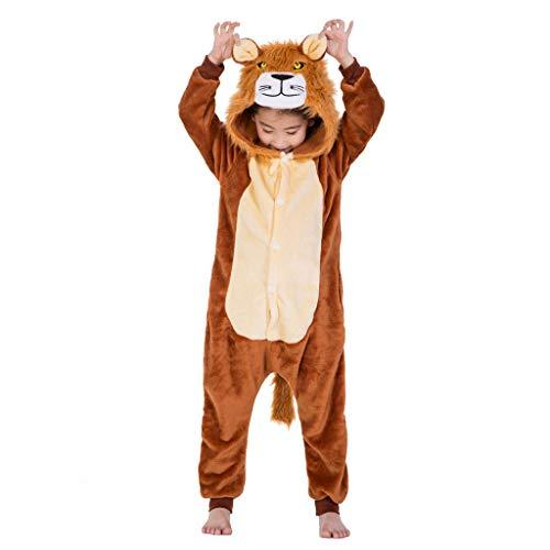 (Meeyou Kids Unicorn Costume, Animal Onesie Pajamas for Boys & Girls (120(Height:45.3