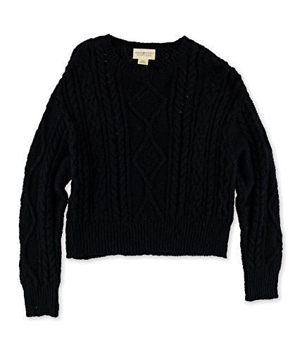 Ralph Lauren Girls Knit Sweater (RALPH LAUREN Denim & Supply Women's Cable-Knit Cotton Sweater (Small, Black))