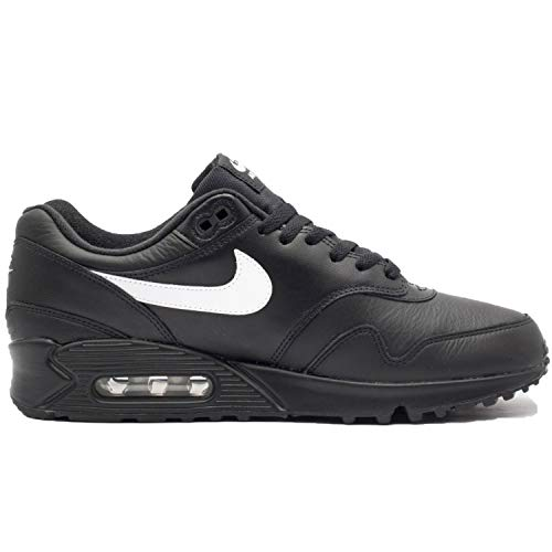 Nike Air Max 90/1 Black White Leather Running Mens Style: AJ7695-001 Size: 11.5 (Nike Air Max 90 Leather Black Grey)