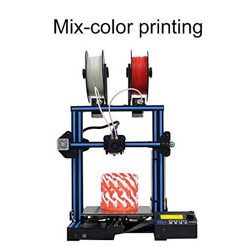 Geeetech 3D Printer A10M Mix-Color Prusa I3 220×220×260 mm³ Print Size with Dual Extruder/Filament Detector/Power Resume/3: 1-Gear/Open Source Control Board