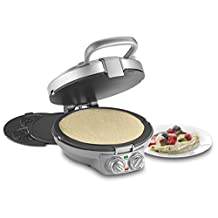 CUISINART CPP-200C International Chef Crêpe/Pizzelle, Pancake Plus, Silver