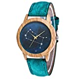 Sterling Silver Watches for Women,Women's Fashion Casual Leather Strap Analog Quartz Round Watch,Green