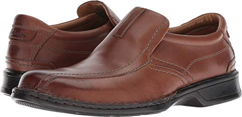 Clarks Men's Escalade Step Slip-on Loafer- Brown Leather 13 D(M) US