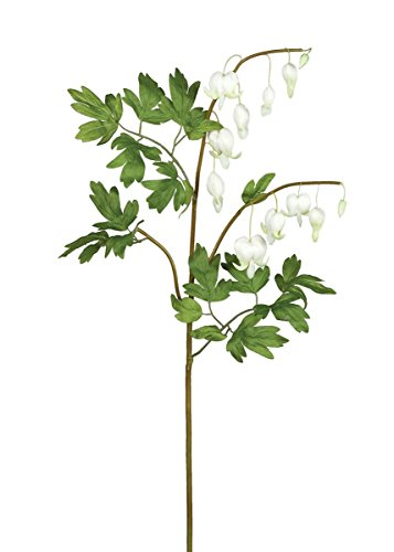 Artificial White Bleeding Heart Flowers - 33.5