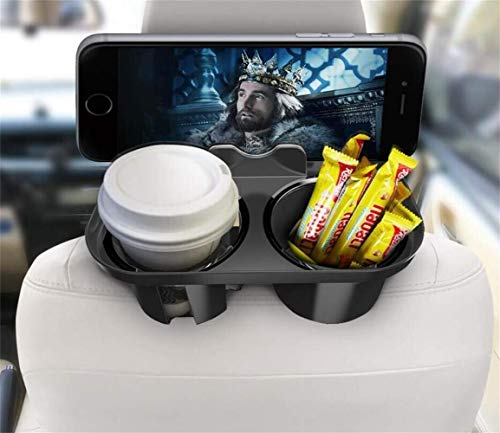 MAOBLOG Multifunction Car Seat Mount Holder Snacks Cup Storage Tray Bracket Cradle Clip Standard for iPhone Xs Max XR X 8 7 Plus Galaxy S9 S8 Plus and Other Mobile Phones. Air Vent Black