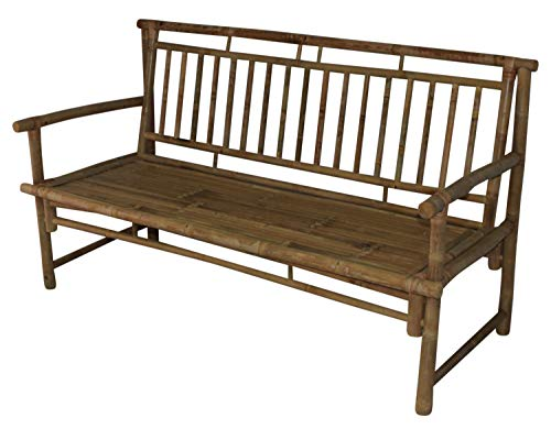 Slat Back Bench (Bamboo Slat Back Bamboo Bench)