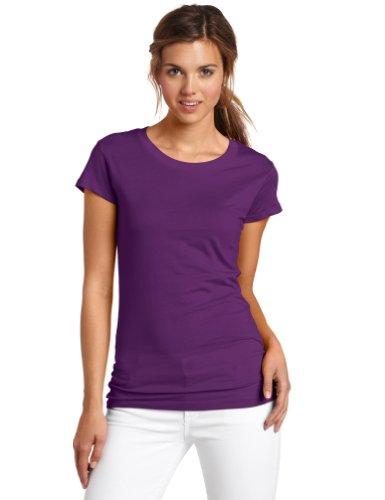 (Dickies Girl Juniors Short Sleeve Crew Neck Tee,Purple,Small)