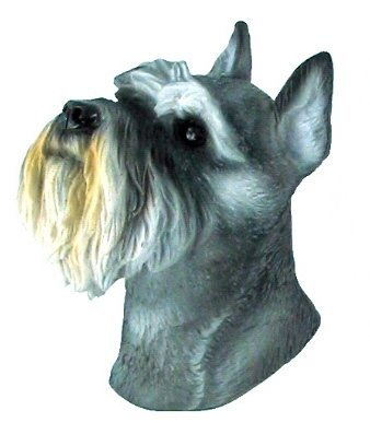 - Dog Big Head Miniature Schnauzer Bangkok Thailand Souvenir 3d High Quality Resin 3D fridge Refrigerator Thai Magnet Hand Made Craft