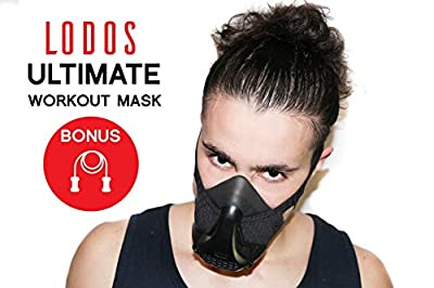Workout Training Mask + FREE Jump Rope| High Altitude Elevation Simulation [16 Adjustable Levels]- For HIIT Endurance Training, Gym, Cardio, Running, Sports, Fitness- Comfy Fit [UNIVERSAL SIZE]
